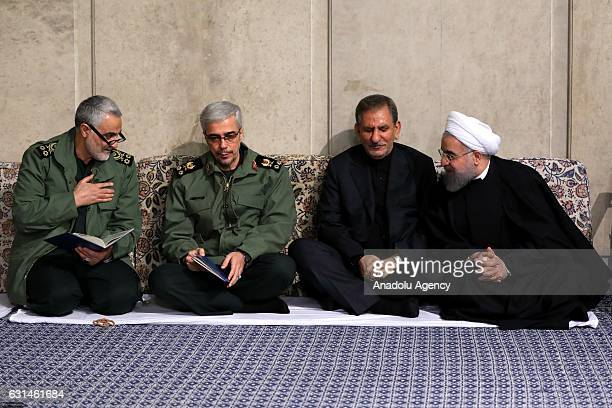 Chief of Staff for the Armed Forces of the Islamic Republic of Iran Mohammad Bagheri Iranian First Deputy President Ishak Cihangiri Iranian President...