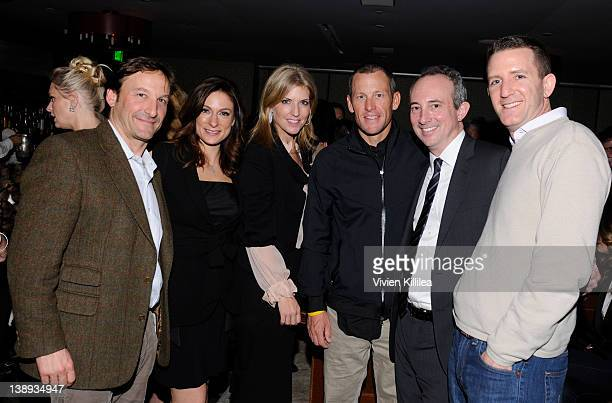 Chief of Staff of Livestrong Morgan Binswanger actress Amy Povich Nina Oberfeld professional cyclist Lance Armstrong David B Agus MD and president...