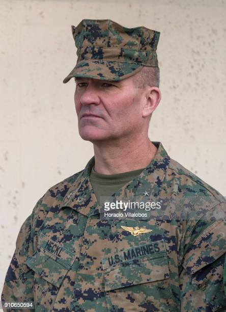 Chief of Staff of Naval Striking and Support Forces NATO US Marines Brigadier General Karsten Heckl during NATO Secretary General Jens Stoltenberg...