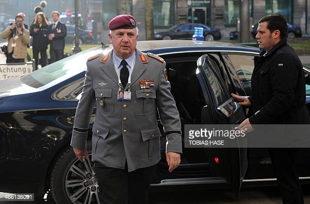 Chief of Staff of Supreme Headquarters Allied Powers Europe and German General Werner Freers arrives on January 31 2014 for 50th Munich Security...