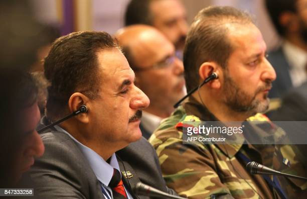 Chief of Staff of the Free Syrian Army Ahmed Beri attends a session of Syria peace talks in Astana on September 15 2017 Russia Iran and Turkey have...