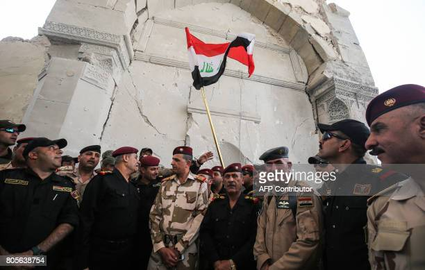 Chief of Staff of the Iraqi Army Staff LieutenantGeneral Othman alGhanimi along with CounterTerrorism Service commander Staff LieutenantGeneral Abdul...
