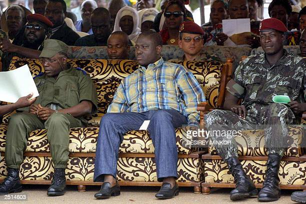 Chief of staff of the New Forces Colonel Soumaila Bakayoko secretary general of the MPCI Guillaume Soro and commander of the southern zone sergeant...