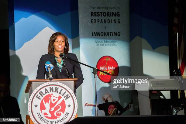 Chief of Teaching and Learning for Chicago Public Schools LaTanya McDade speaks at Chicago Public School Announces Music Program Expansion With...