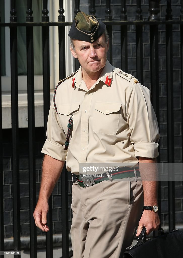 Chief of the Defence Staff, General Nick Houghton arrives in Downing Street on July 21, 2014 in London, England. Prime Minister David Cameron is holding a National Security meeting.