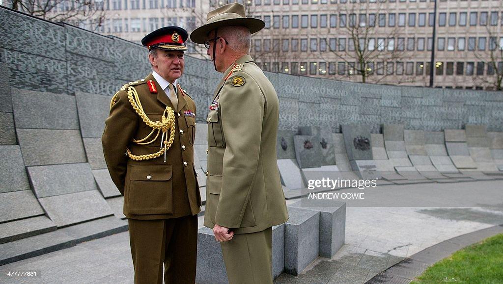 BRITAIN-AUSTRALIA-MEMORIAL-WW1 : News Photo
