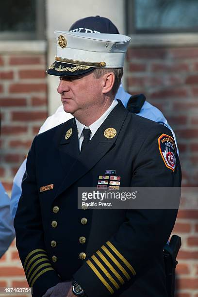 S ISLAND NEW YORK NY UNITED STATES FDNY Chief of the Department James Leonard its highest ranking uniformed officer attends the press conference...