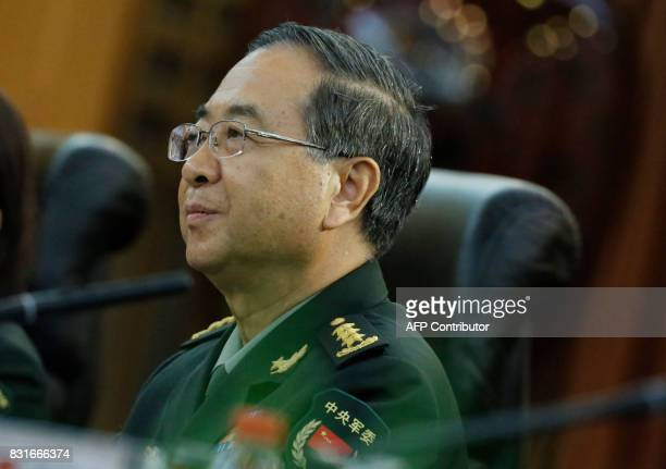 Chief of the general staff of the Chinese People's Liberation Army General Fang Fenghui attends a meeting with the chairman of the US Joint Chiefs of...