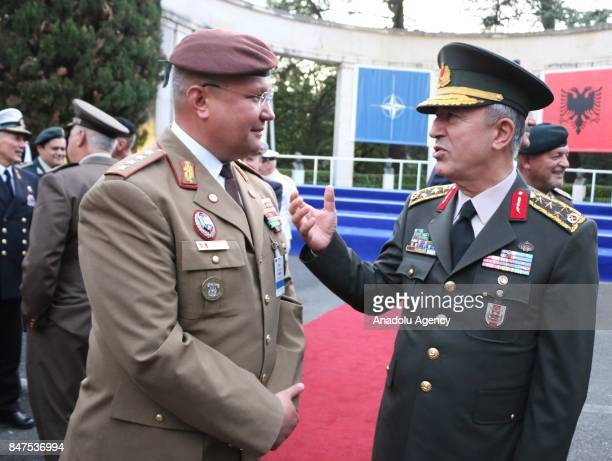Chief of the General Staff of the Turkish Armed Forces Hulusi Akar attends a reception held for Chiefs of General Staff of NATO's member countries as...