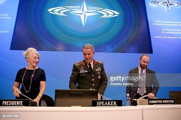 Chief of the General Staff of the Turkish Armed Forces Hulusi Akar takes part in the meeting of the Defence and Security Committee as part of the...