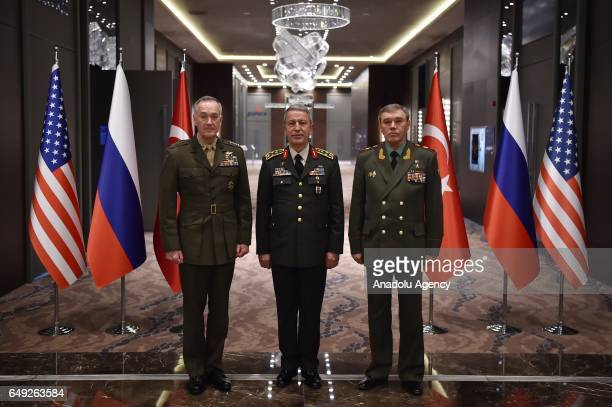 Chief of the General Staff of the Turkish Armed Forces Hulusi Akar General Valery Gerasimov Chief of the General Staff of the Russian Armed Forces...