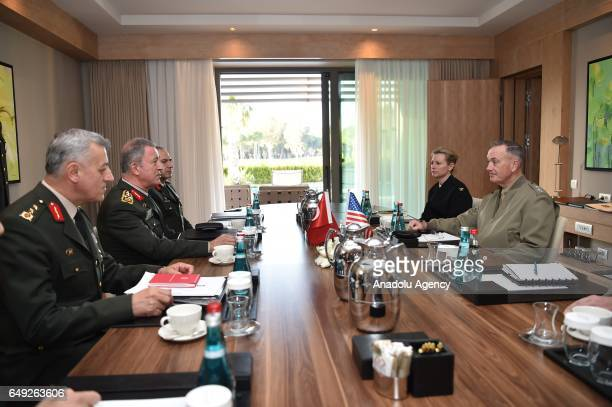 Chief of the General Staff of the Turkish Armed Forces Hulusi Akar meets Chairman of the US Joint Staff General Joseph Francis Dunford on March 7...