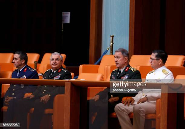 Chief of the General Staff of the Turkish Armed Forces Hulusi Akar Commander of the Turkish Land Forces Yasar Guler Commander of the Turkish Naval...