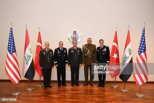 Chief of the General Staff of the Turkish Armed Forces Hulusi Akar Iraqi Army Chief of Staff Othman alGhanimi US European Command Commander Gen...