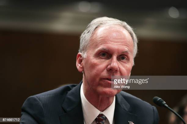 Chief Officer for Specialty Care at the Veterans Health Administration Laurence Meyer testifies during a hearing before the Military Construction...