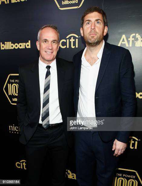 Chief Operating Officer and CoChairman of Warner Music Tom Carson and CEO of Recorded Music at Warner Music Group Max Lousada attend 2018 Billboard...