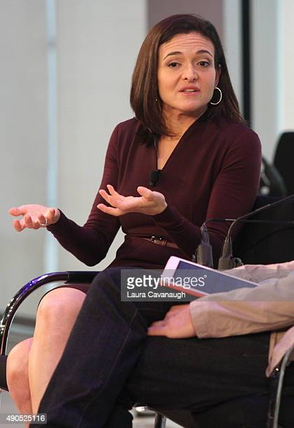 Chief Operating Officer at Facebook Sheryl Sandberg speaks onstage at the Connecting in a Mobile World panel presented by Facebook during Advertising...