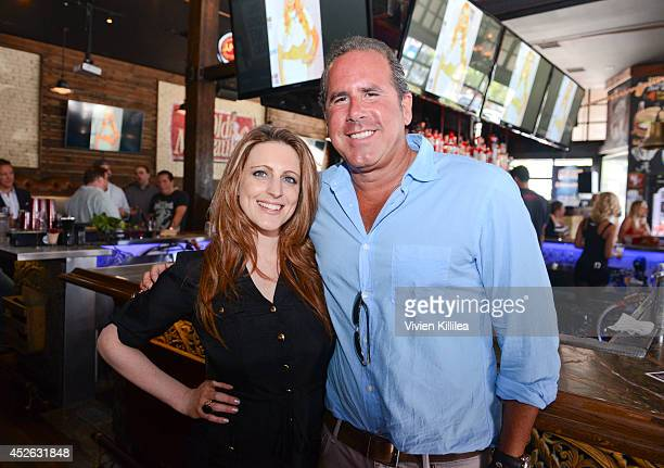 Chief operating officer at The Howard Stern Show Channels Marci Turk and senior VP at Sirius XM Ross Zapin attend the Howard 101 ComicCon Party at...