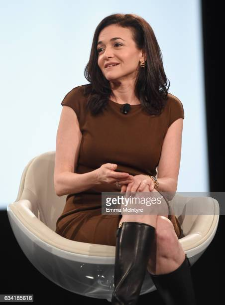 Chief Operating Officer Facebook Sheryl Sandberg speaks onstage during The 2017 MAKERS Conference Day 2 at Terranea Resort on February 7 2017 in...