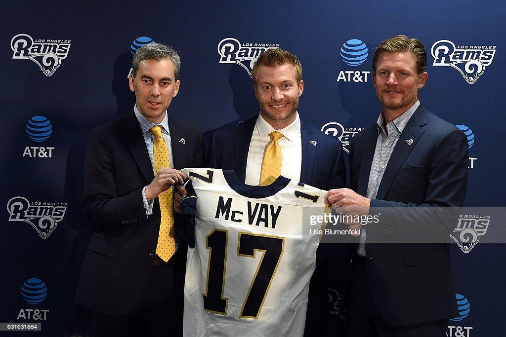 Los Angeles Rams Introduce Sean McVay - News Conference : News Photo