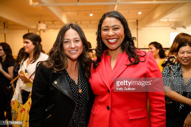 Chief Operating Officer Maureen Sullivan and San Francisco Mayor London Breed pose for a photo during the launch of Rent the Runway's West Coast...