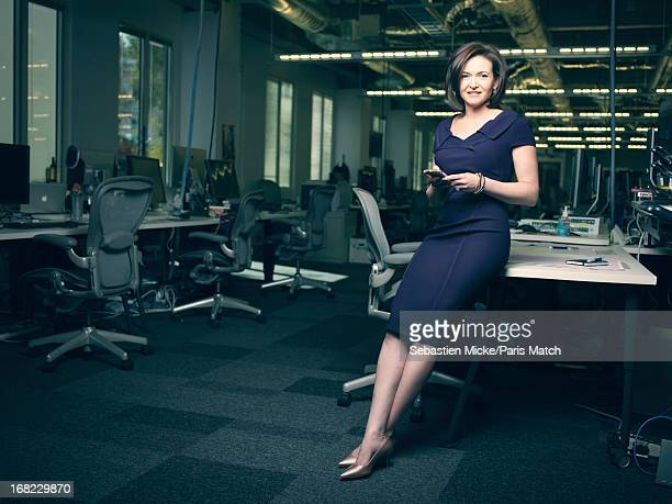 Chief operating officer of Facebook Sheryl Sandberg is photographed for Paris Match on April 23 2013 in Menlo Park California