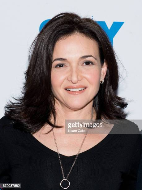 Chief Operating Officer of Facebook Sheryl Sandberg visits 92nd Street Y on April 23 2017 in New York City