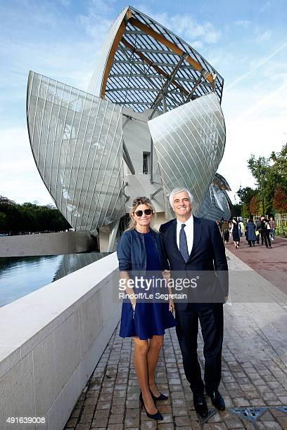 Chief Operating Officer of LVMH Group Antonio Belloni attends the Louis Vuitton show as part of the Paris Fashion Week Womenswear Spring/Summer 2016...