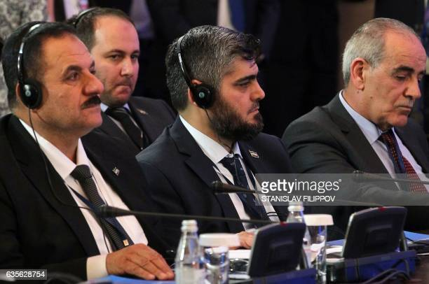 Chief opposition negotiator Mohammad Alloush of the Jaish alIslam looks on during the second session of Syria peace talks at the Rixos President...