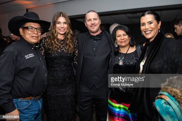 Chief Phillip Whiteman Jr Sibi Blazic actor Christian Bale Lynette Two Bulls and guest attend the after party for the premiere of Entertainment...