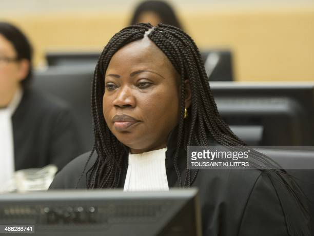 Chief Prosecutor Fatou Bensouda appears during the case against Congolese militia leader Bosco Ntaganda at the International Criminal Court in The...