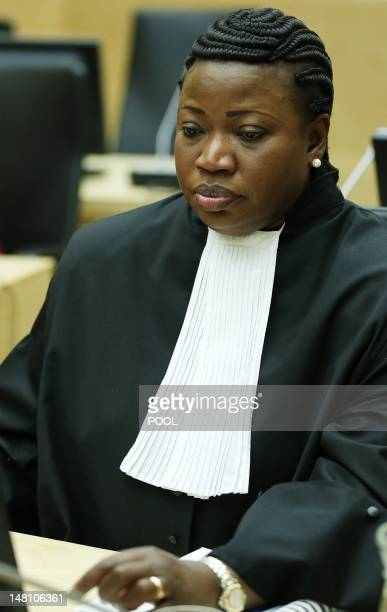 Chief prosecutor Fatou Bensouda is pictured as Congolese warlord Thomas Lubanga hears the firstever sentence delivered by The International Criminal...