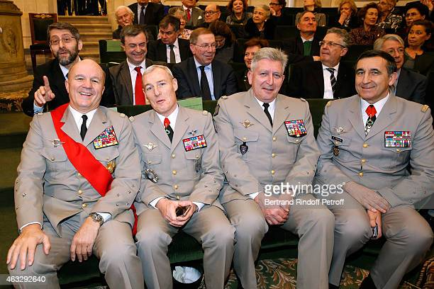 Chief Rabbi of France Gilles Bernheim, Legion of Honor's Grand Chancellor General Jean-Louis Georgelin, Military Governor of Paris, General Herve...