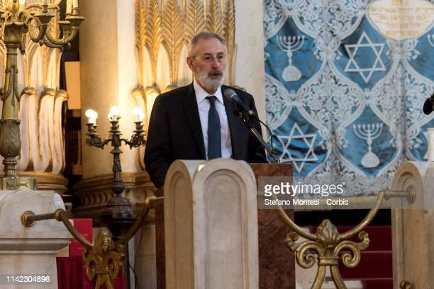 Chief Rabbi of Rome Riccardo Di Segni speaks to a delegation of 800 young people from more than 50 cities in Russia as part of the 'Yachad' project...