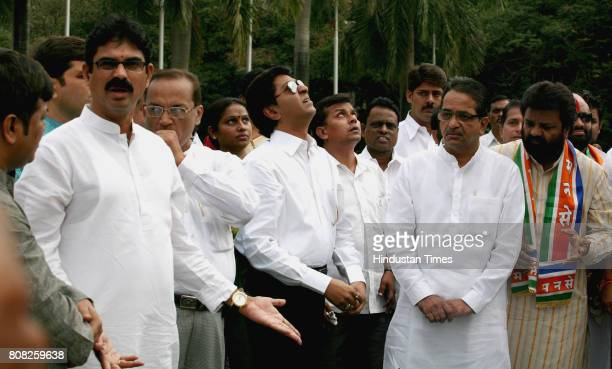 MNS chief Raj Thackeray along with his 13 MLA's pay tribute to Hutatma Chowk at first day of cabinet session in Mumbai on Monday Bala Nandgaonkar...