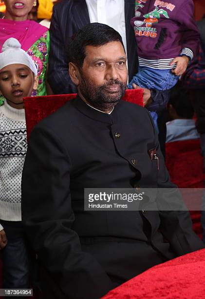 Chief Ram Vilas Paswan during prewedding party of singer Daler Mehndi's daughter Ajit Kaur with Navraj Singh son of singer Hans Raj Hans on November...