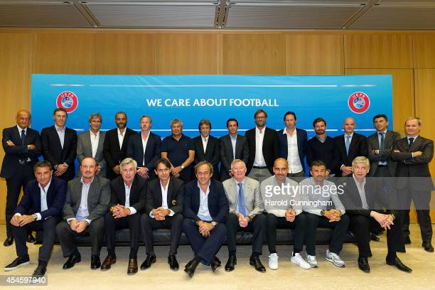 Chief Refereeing Officer Pierluigi Collina, Paris St. Germain FC Coach Laurent Blanc, Manchester City FC Coach Manuel Pellegrini, Valencia CF Coach...