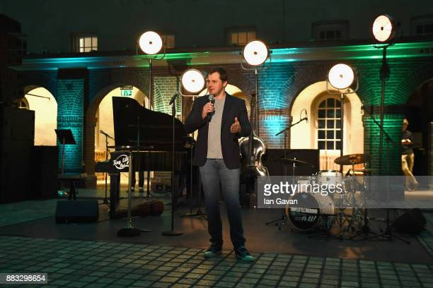 Chief Sales Officer of Kaspersky Lab Alexander Moiseev speaks during a Christmas Dinner With Eugene Kaspersky on November 30 2017 in Amsterdam...