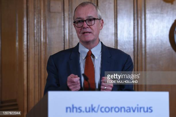 Chief Scientific Adviser Patrick Vallance addresses a news conference to give a daily update on the government's response to the novel coronavirus...