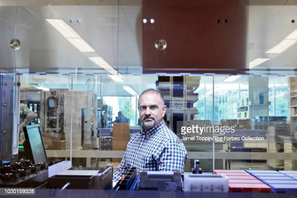Chief scientific officer of Regeneron Pharmaceuticals George Yancopoulos is photographed for Forbes Magazine on June 21 2018 in Tarrytown New York...