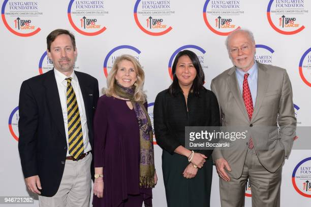 Chief Scientist for Lustgarten Foundation David Tuveson CEO of Lustgarten Foundation Kerri Kaplan CEO of Stand Up To Cancer Sung Poblete and Stand Up...