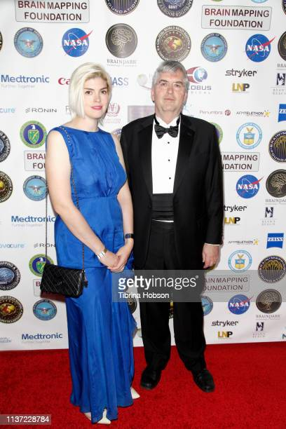 Chief Scientist of the Brain Health Consortium Dr George Perry and Anne Gardener attend the 16th annual 'Gathering for Cure' black tie awards gala of...