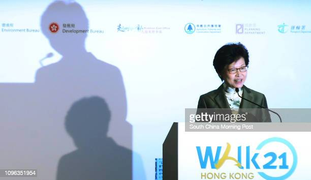 Chief Secretary Carrie Lam Cheng Yuetngor attends Day one of Walk 21 Hong Kong on walkability and urban design 17th edition of international...