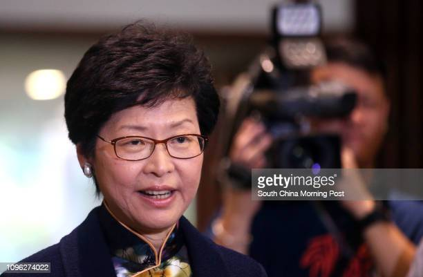 Chief Secretary Carrie Lam Cheng Yuetngor speaks to media after meeting on medical reform in Tamar 06JUL16 SCMP/ David Wong