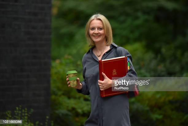Chief Secretary to the Treasury Elizabeth Truss arrives at Downing Street as she attends the weekly Cabinet Meeting London on September 11 2018