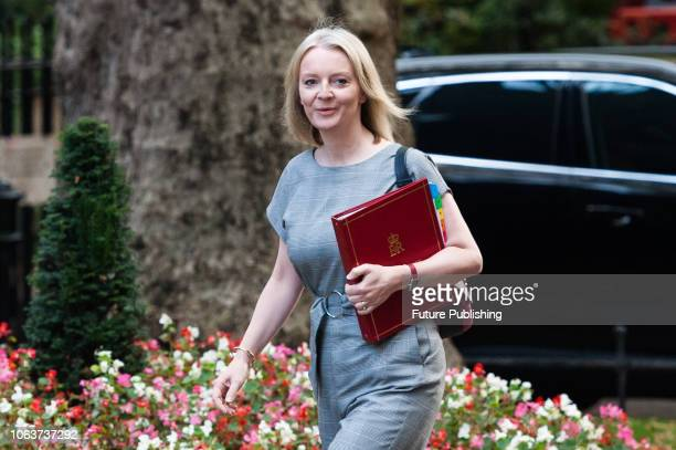 Chief Secretary to the Treasury Elizabeth Truss arrives for a Cabinet meeting at 10 Downing Street in central London held to discuss the status of...