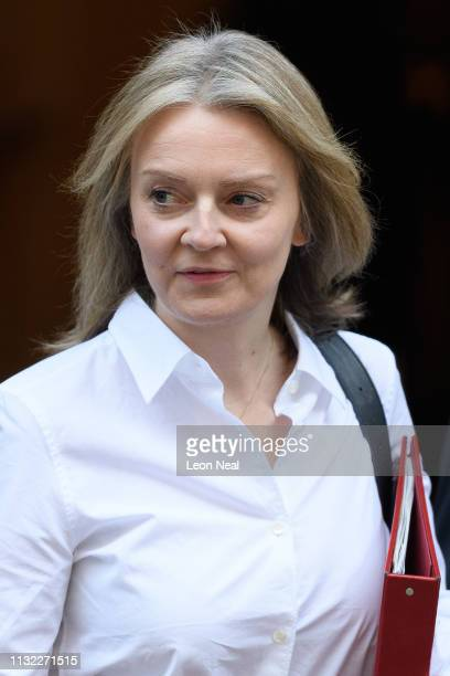 Chief Secretary to the Treasury Liz Truss attends the weekly cabinet meeting at Downing Street on February 26 2019 in London England British Prime...