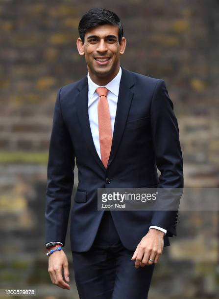 Chief Secretary to the Treasury Rishi Sunak arrives at Downing Street on February 13 2020 in London England The Prime Minister makes adjustments to...