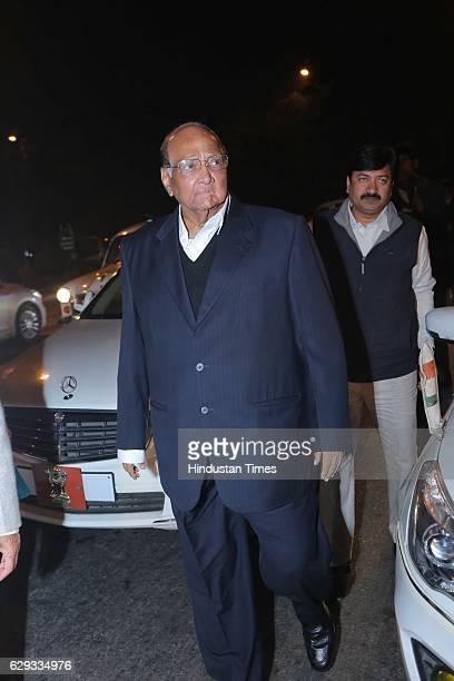 Chief Sharad Pawar at the wedding reception of Union Minister Nitin Gadkari's daughter Ketki and Aditya Kaskhedikar on December 8 2016 in New Delhi...