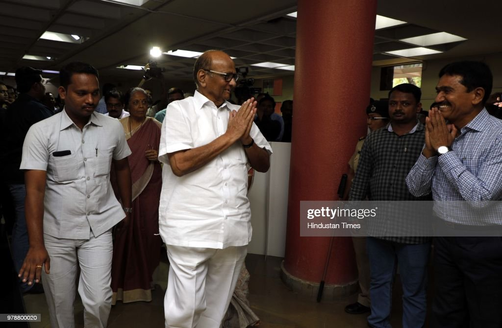 NCP Chief Sharad Pawar At Special Screening Of Marathi Movie Ziprya